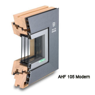 Alu-Holz-Fenster AHF 105 Modern